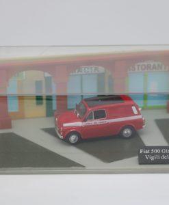 Hachette Fiat 500 Giardiniera Vigili del Fuoco DIORAMA scaled