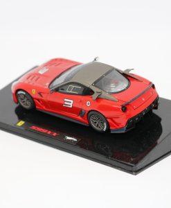 Hotwheels Elite 143 Ferrari 599XX Rosso corsa retro scaled