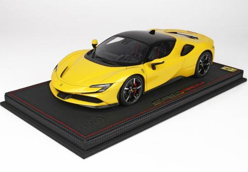118 BBR MODELS Ferrari SF90 Stradale Giallo Modena P18180B 1