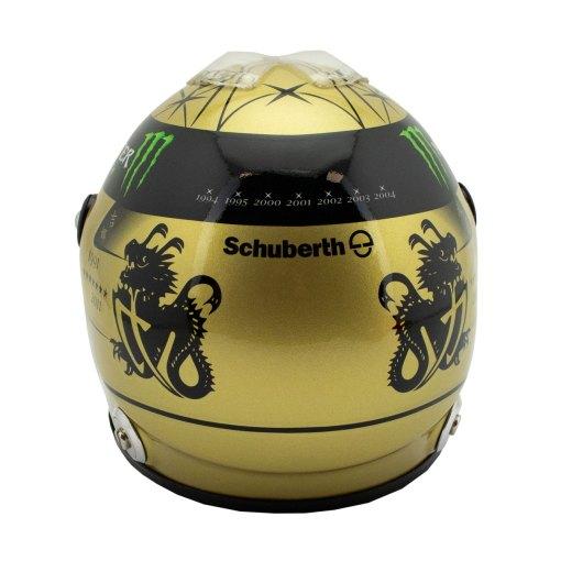 12 Michael Schumacher Spa 2011 gold helmet 3