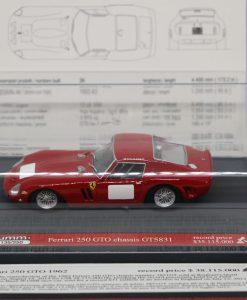 Brumm 143 Ferrari 250 GTO 1962 Record price Limited Ed. 250 pcs 1 scaled