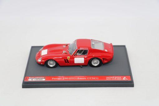 Brumm 143 Ferrari 250 GTO 1962 Record price Limited Ed. 250 pcs 3 scaled
