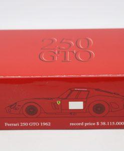 Brumm 143 Ferrari 250 GTO 1962 Record price Limited Ed. 250 pcs scaled