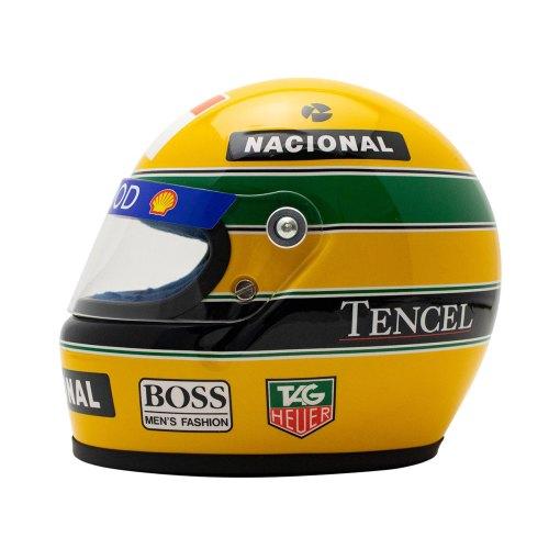 Mini Helmet scala 12 Ayrton Senna 1993 4