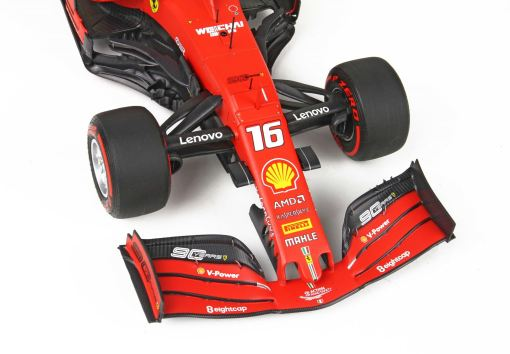 BBR 118 Ferrari SF90 GP Belgium Pole Position Leclerc anteriore