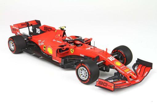 BBR 118 Ferrari SF90 GP Belgium Pole Position Leclerc fronte