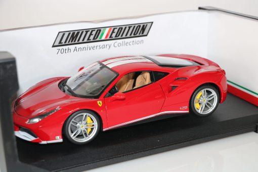 Bburago 118 Ferrari 488 GTB 70th anniversary Collection 3 scaled