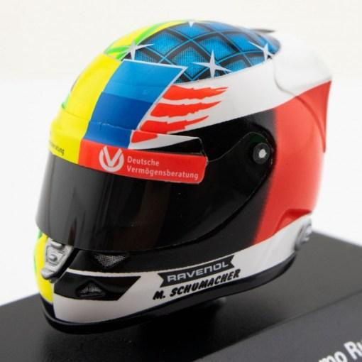 Mini Helmet 18 Mick Schumacher Belgium Gp 2017 4