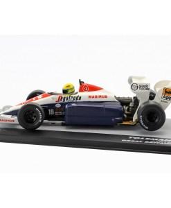 Modellino Atlas 143 Ayrton Senna Toleman TG184 19 3rd United Kingdom F1 GP 1984 4