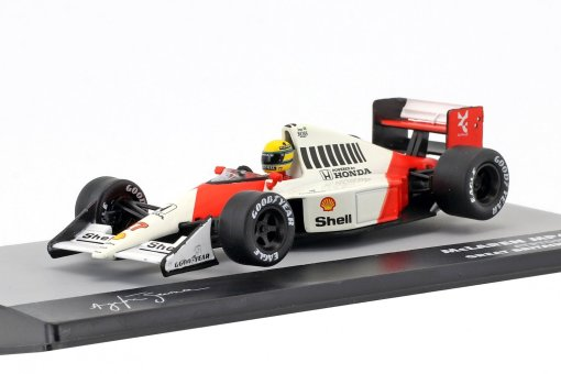 Modellino F1 Atlas 143 Ayrton Senna McLaren MP45B 27 World Champion Great Britain GP Formula 1 1990 4
