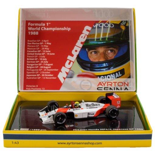 Modellino Minichamps 143 Ayrton Senna McLaren Honda MP44 Formula 1 Japan GP 1988 1
