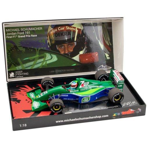 Modellino Minichamps 143 Michael Schumacher Jordan Ford 191 First F1 GP Spa 1991