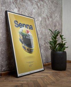 Poster Ayrton Senna Helmet San Marino GP 1988 McLaren MP44 50x70cm 4