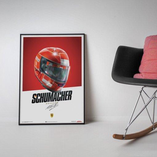 Poster Casco Michael Schumacher F1 2000 4
