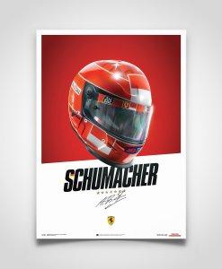 Poster Casco Michael Schumacher F1 2000 5