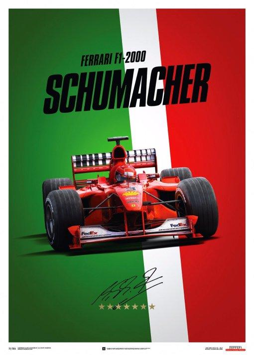 Poster Michael Schumacher Ferrari F1 2000 Monza Gp 1