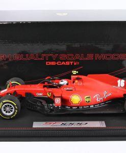 Modellino F1 BBR MODELS 118 Ferrari SF1000 2020 Charles Leclerc Austrian GP Special Box lato