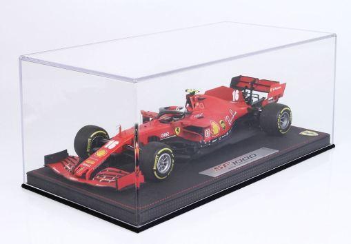 Modellino F1 BBR MODELS 118 Ferrari SF1000 2020 Charles Leclerc Austrian GP Special Box vetrina