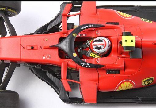 Modellino F1 BBR Models 118 Ferrari Sf1000 Charles Leclerc 2020 Red Bull ring dettaglio casco