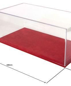 Vetrina BBR con base alcantara rossa cuciture nere 118 misure