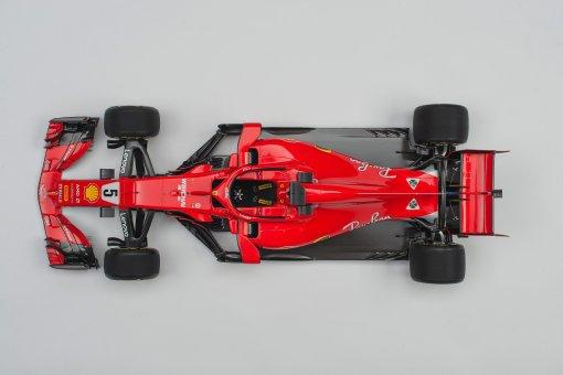 Ferrari AmalgamSF71h Vettel dall alto