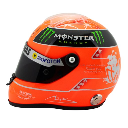 Michael Schumacher Final Helmet GP Formula 1 2012 12 2