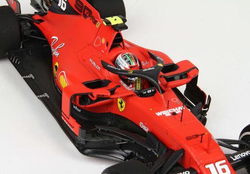 BBR 118 Ferrari SF90 GP Italy Monza 2019 Leclerc casco