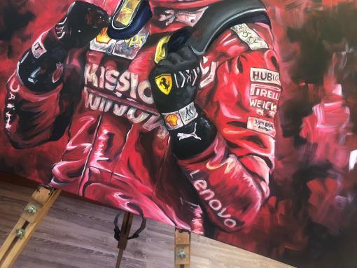 Il Predestinato dipinto acrilico su tela 70x100cm 4