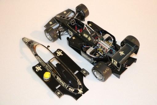 Modellino artigianale 112 F1 Lotus 97T 1985 Ayrton Senna N.12 9