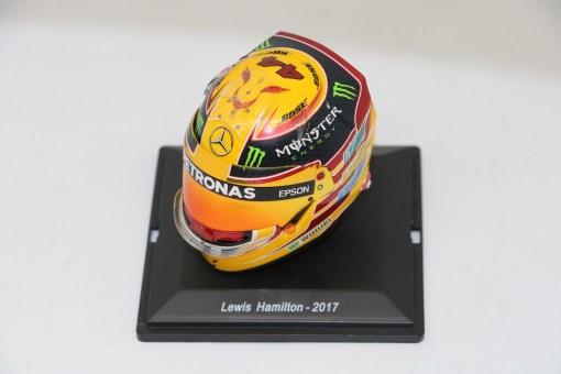 Spark 15 Mini Helmet Lewis Hamilton Mercedes 2017 Die Cast 1
