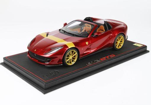 BBR 1 43 Ferrari 812 GTS Rosso Fiorano With Gold Stripe FRONTE