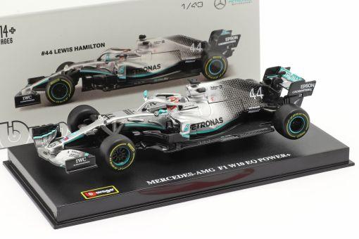 Modellino BBurago 1 43 Lewis Hamilton Mercedes 2019 W10