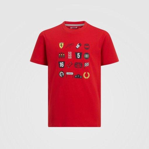 T shirt Bambino Scuderia Ferrari Grafica F1