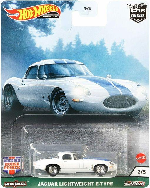 Modellino Auto Mattel Hot Wheels 164 JAGUAR E TYPE LIGHTWEIGHT 1963