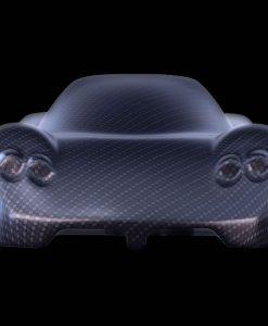 Sculturia cars Pagani Zonda C12 carbon look 3