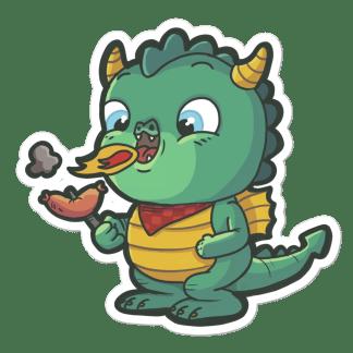 Sticker Dragon Saucisse
