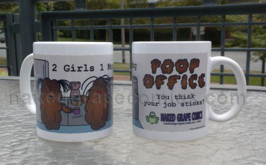 "Poop Office ""2 Girls 1 Mug"" Mug"