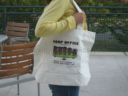 Poop Office Tote Bag