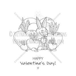 Bunny. Hand Drawn Doodle Happy Valentine's Day Character. - Natasha Pankina Illustrations