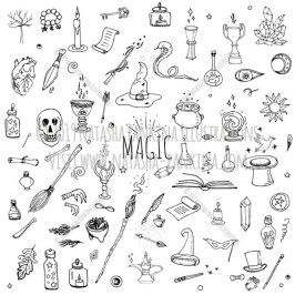 Magic. Hand Drawn Doodle Fairy Icons Collection. - Natasha Pankina Illustrations