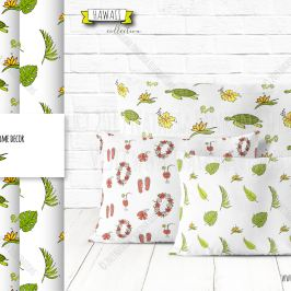 description: Hand drawn doodle Tropical flora and fauna on white background. Vector illustration of cute objects. Cartoon sketchy drawing for printed on Throwing pillows. Seamless pattern. Unseamed texture. illustrator: Natasha Pankina Natasha Pankinahttps://store.natasha-pankina.com/copyright-notice-per-image-metadata/