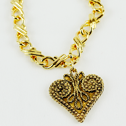 Heart Charm Collection in Antique by KJK Jewelry