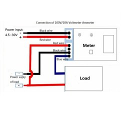 Voltmeter Wiring Diagram 83 Virago Dc 0-100v 10a Digital Ammeter Dual Display Voltage Detector Current Meter Panel ...