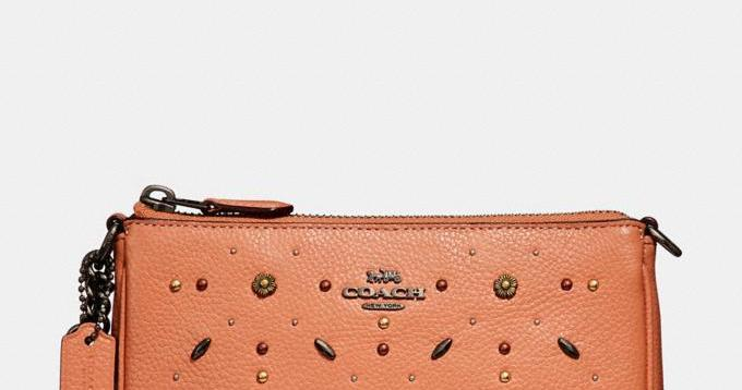 COACH Nolita Wristlet 19 With Prairie Rivets