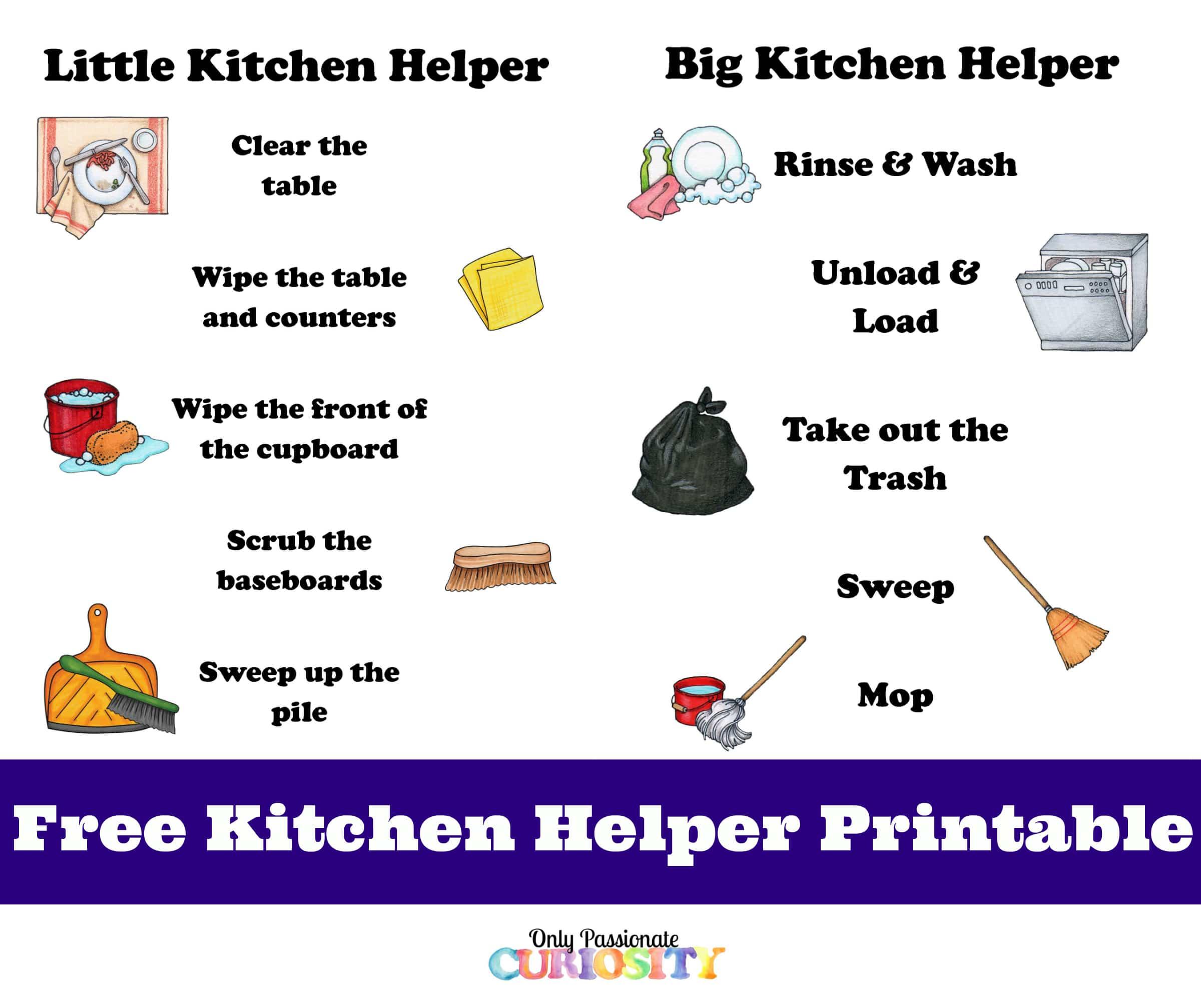 Kitchen Helper Printables