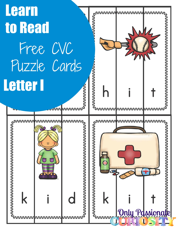 Cvc Puzzles Middle Letter I