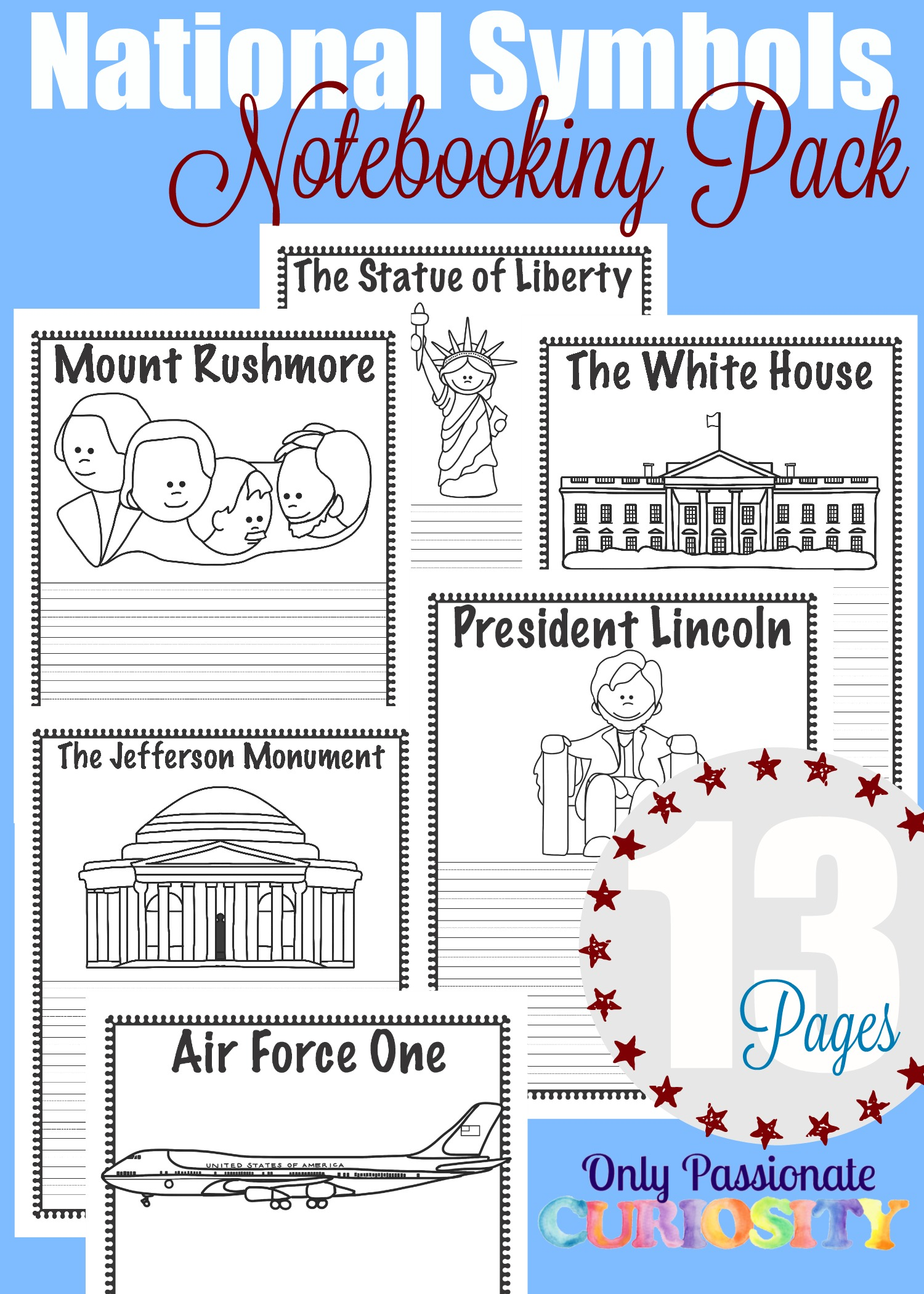National Symbols Notebooking Pack