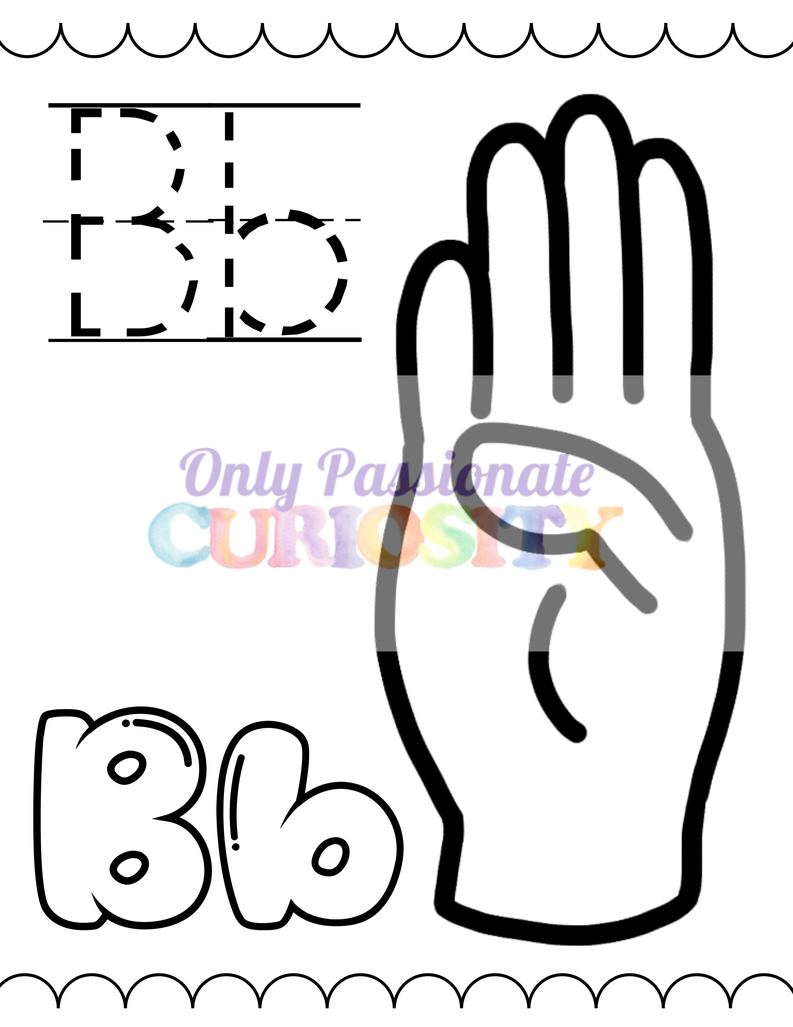 American Sign Language Alphabet Coloring Book