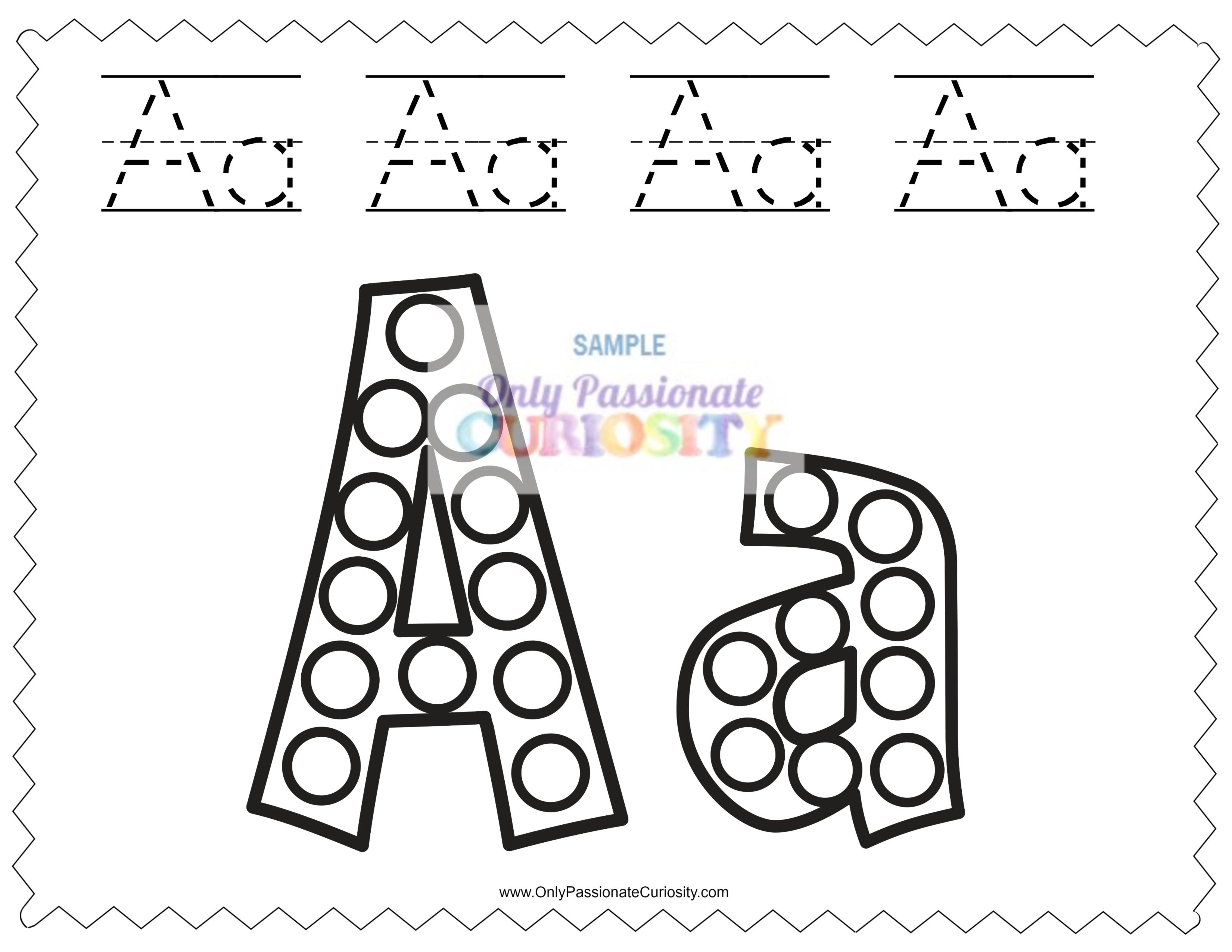 Dab A Dot Worksheets Abcs