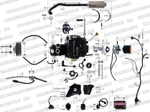 small resolution of 125cc roketa dirt bike wiring diagram
